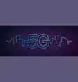 5g network wireless technology fifth generation vector image vector image