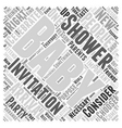 baby shower invitations Word Cloud Concept vector image vector image