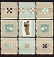 banner on theme ancient greece with tiles vector image vector image