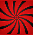black and red spiral swirl radial background vector image