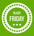 black friday sticker icon green vector image vector image