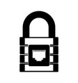 black icon padlock cartoon vector image