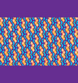 blockchain concept isometric banner binary vector image vector image