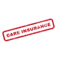 Care Insurance Text Rubber Stamp vector image vector image
