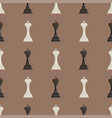 chess board and chessmen seamless pattern vector image