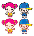 Cute boy and girl vector | Price: 3 Credits (USD $3)