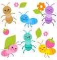 cute cartoon ants vector image vector image