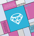 Diamond Icon sign Modern flat style for your vector image vector image