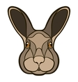 drawing head a rabbit hare vector image vector image