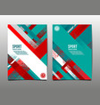 dynamic grunge sport cover set abstract vector image vector image