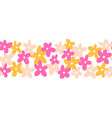 flower border seamless cute simple doodle vector image vector image
