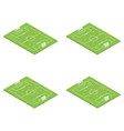 football stadium soccer set concept 3d isometric vector image vector image