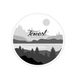 forest logo design beautiful nature landscape vector image vector image