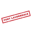 Fort Lauderdale Rubber Stamp vector image vector image