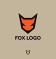 fox logo fox emblem vector image vector image