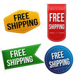 free shipping sticker or label set vector image vector image