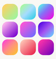 gradient holographic button set trendy soft vector image vector image