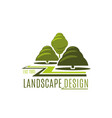 green trees garden landscape design icon vector image vector image