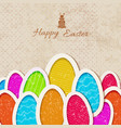 happy baster background vector image vector image