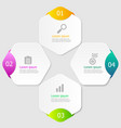 hexagon infographic elements layout 4 steps vector image vector image