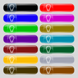Light bulb icon sign Set from fourteen vector image
