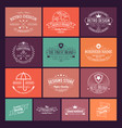 logo design in retro style collection vector image vector image