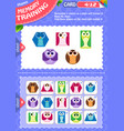 memory game children shapes 4 vector image vector image