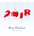 merry christmas card 2018 vector image