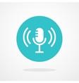 Microphone Icon Webcast Live Stream Webinar vector image vector image