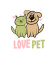 modern pet dog and cat logo vector image