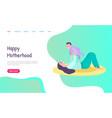 mom playing with bahappy motherhood vector image