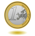 one euro coin vector image vector image