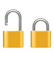 Open lock metal lock 3d realistic security