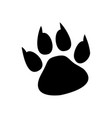 paw prints logo isolated vector image