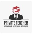 Private teacher logo vector image