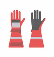 Protective gloves for firefighters vector image