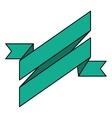 ribbon banner green design icon vector image vector image