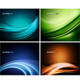set colorful abstract backgrounds vector image vector image