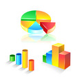 set of graphic chart icon vector image