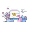 Shop online design flat vector image vector image