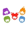 smiling kids on a white background vector image vector image