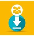 social media group download design vector image vector image