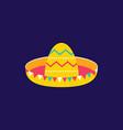 sombrero icon flat style cinco de mayo festival vector image vector image