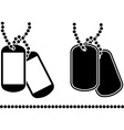 Stencils of dog tags vector image