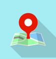 street pin map icon flat style vector image