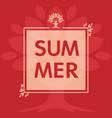 summer leaves frame card concept vector image