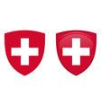switzerland coat arms white helvetic cross in vector image