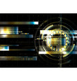 technological space metallic hud display vector image vector image