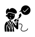 telephone call black icon concept vector image vector image