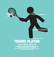 Tennis Player Black Graphic Symbol vector image